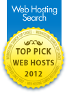 Nocser Technology was awarded Top Pick Web Host 2012