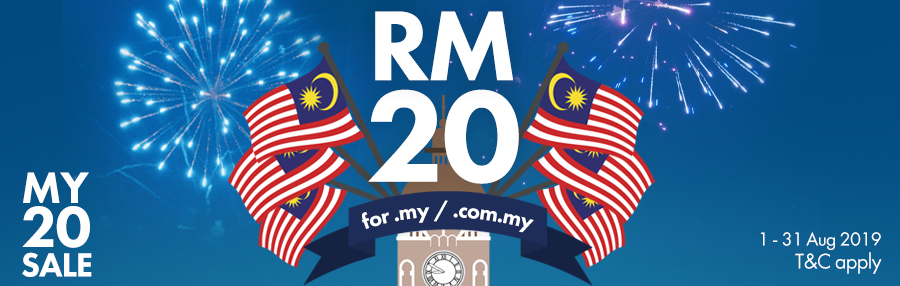 MY20SALES - .comm.my and .my domain at RM20